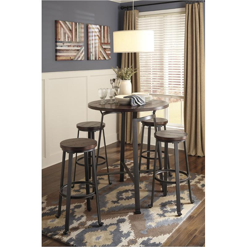 Round Dining Room Tables For 12: D307-12 Ashley Furniture Round Dining Room Bar Table