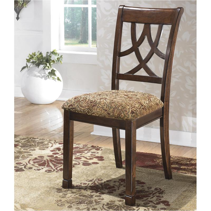 Leahlyn Reddish Brown Arm Chair Set Of 2: D436-01 Ashley Furniture Dining Upholstered Side Chair