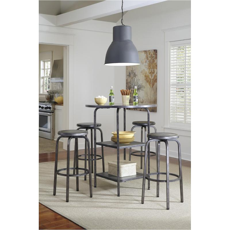 Round Dining Room Tables For 12: D560-12 Ashley Furniture Hattney Round Dining Room Bar Table