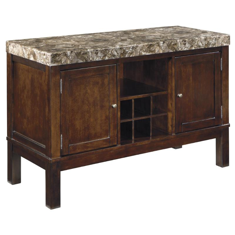 D567 60 Ashley Furniture Kraleene Dark Brown Dining Room Server