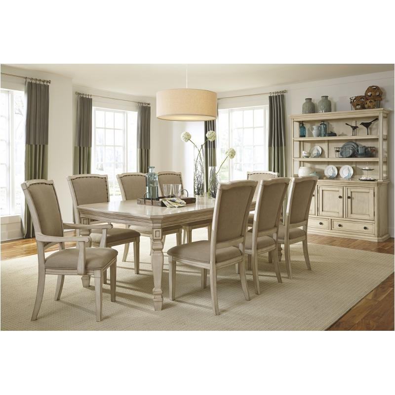 D693 35 Ashley Furniture Demarlos Vintage White Dining Room Table