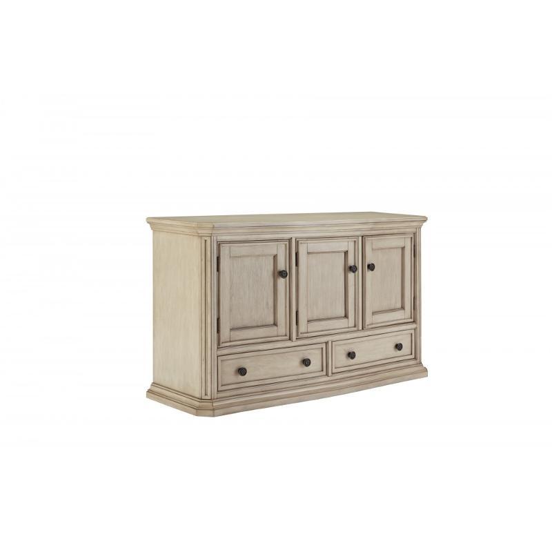 D693 60 Ashley Furniture Demarlos   Vintage White Dining Room Server