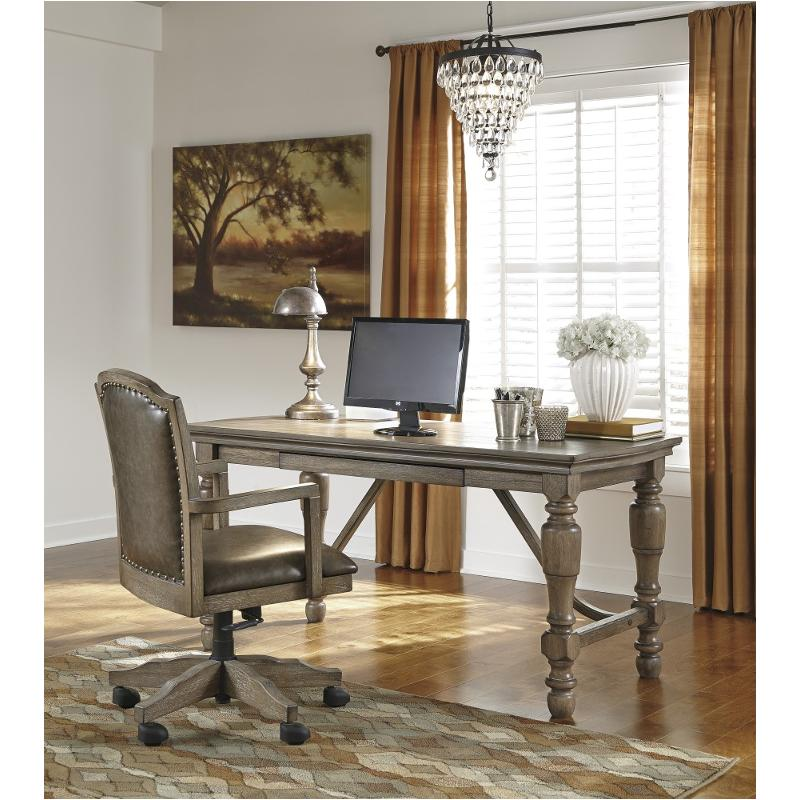 h68827 ashley furniture tanshire grayish brown home office desk