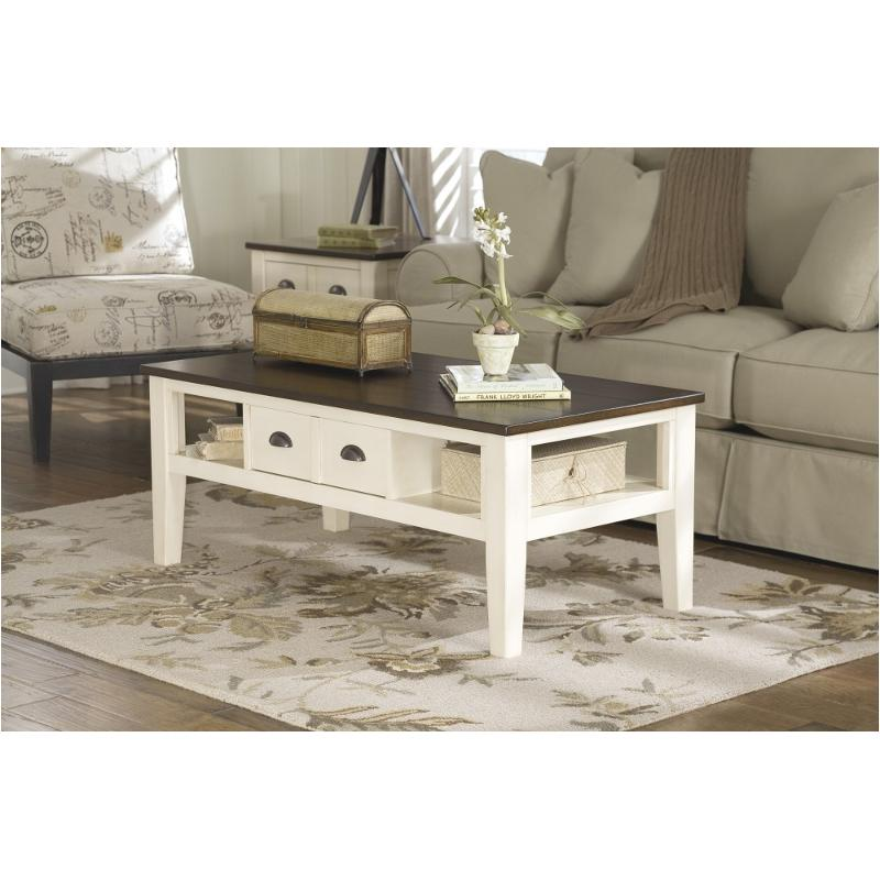 T Ashley Furniture Whitesburg Rectangular Cocktail Table - Rectangular cocktail table by ashley furniture