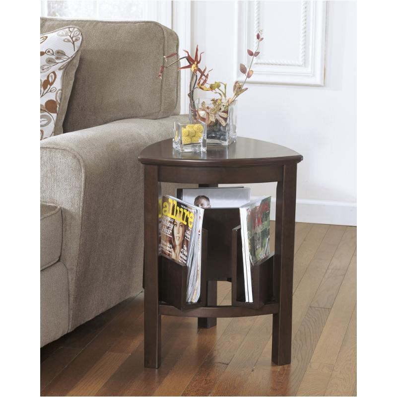 T654 6 Ashley Furniture Larimer   Dark Brown Living Room End Table