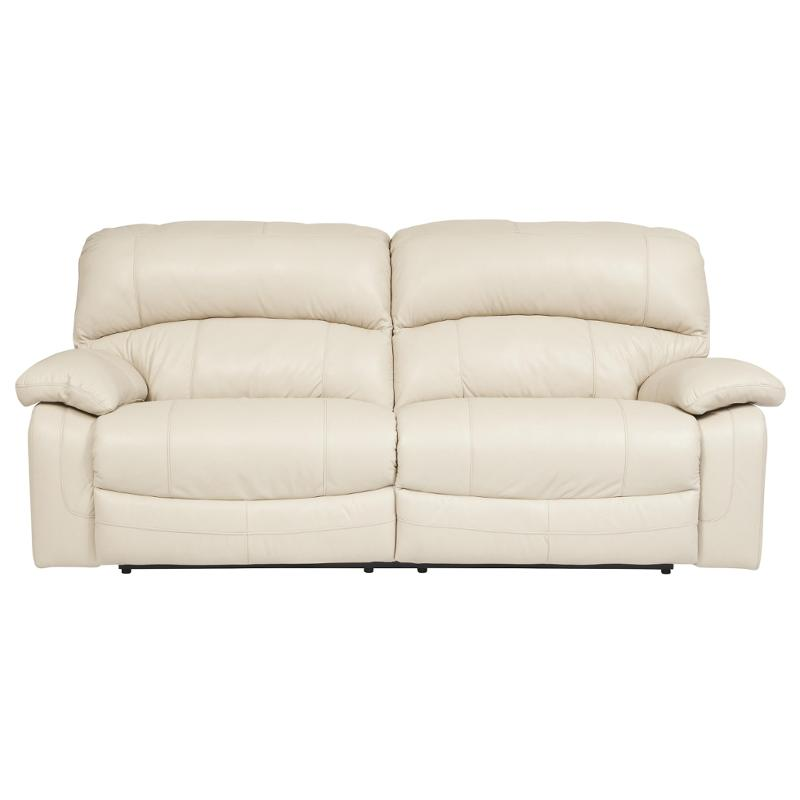 2 Seater Cream Leather Sofa Recliner Reclining Sofas