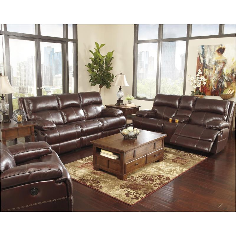 U9900087 Ashley Furniture Lensar Burgundy Living Room Sofa