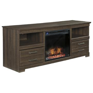 W129 68 Ashley Furniture Large Tv Stand With Fireplace Option