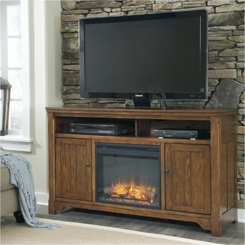 W69968 Ashley Furniture Large Tv Stand With Fireplace Option