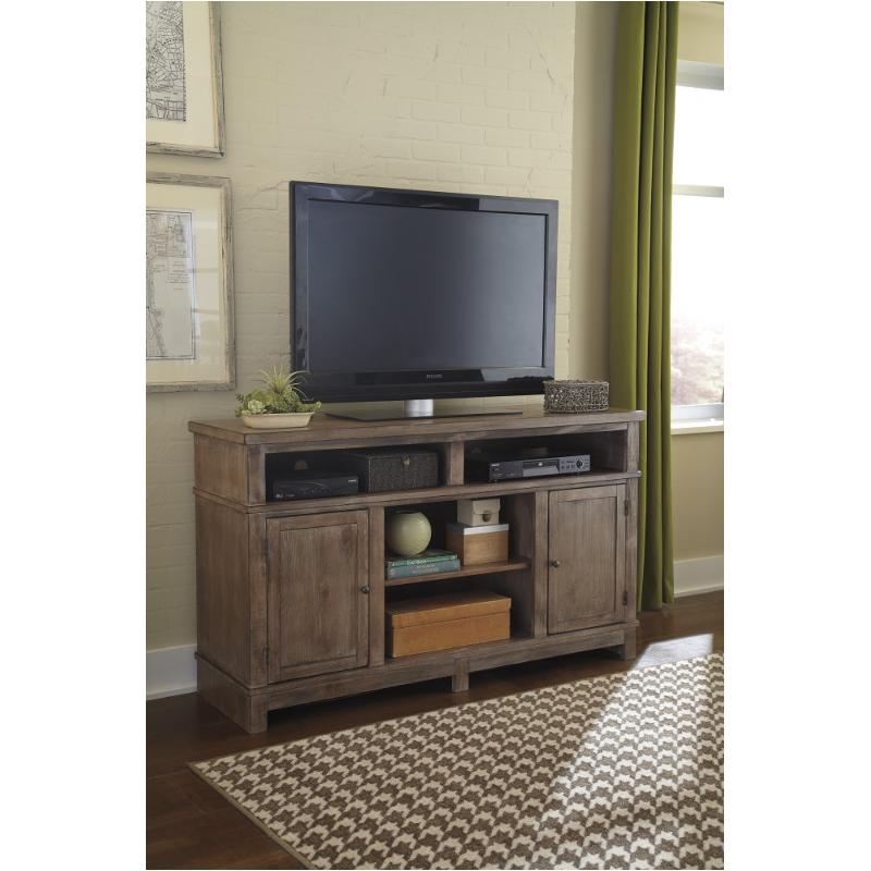 W718-68 Ashley Furniture Large Tv Stand With Fireplace Option