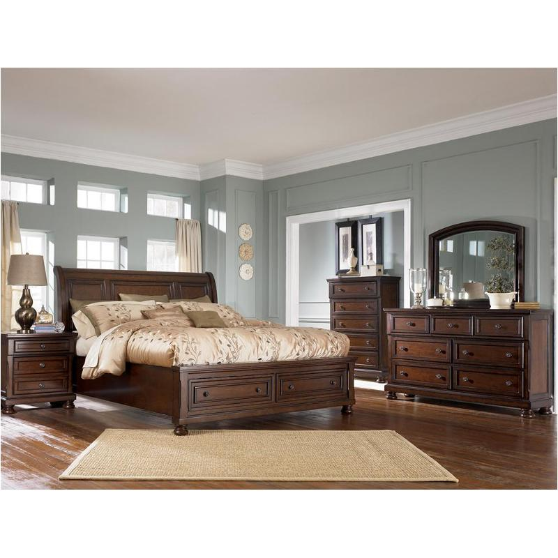B697 78 Ashley Furniture Porter Rustic Brown Bedroom Bed