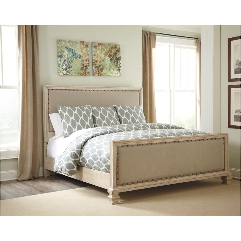 B693 57 Ashley Furniture Queen Upholstered Panel Bed