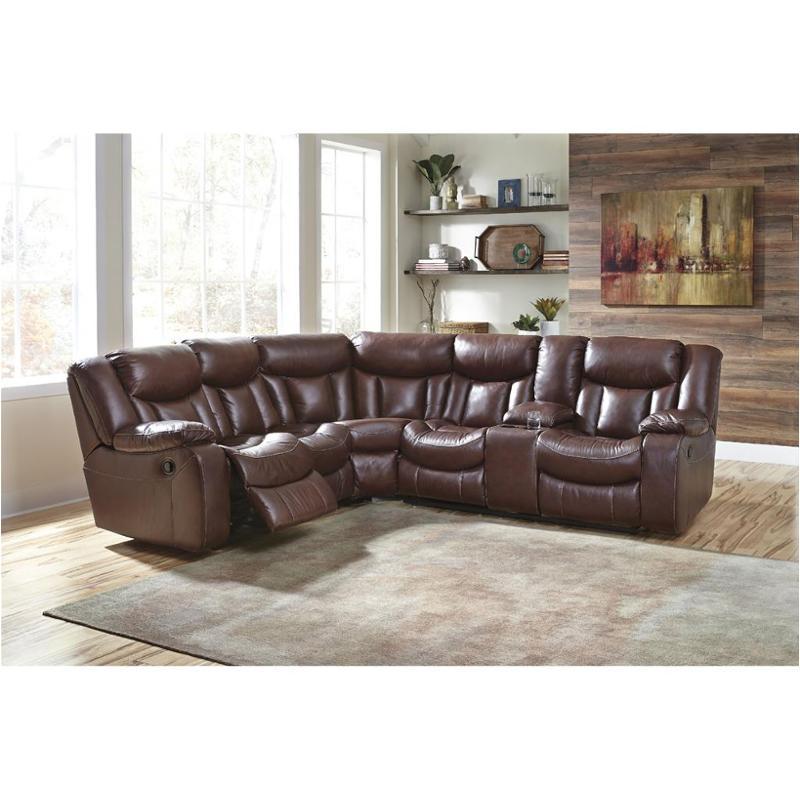 1361048 Ashley Furniture Amaroo Brown Laf Reclining Loveseat
