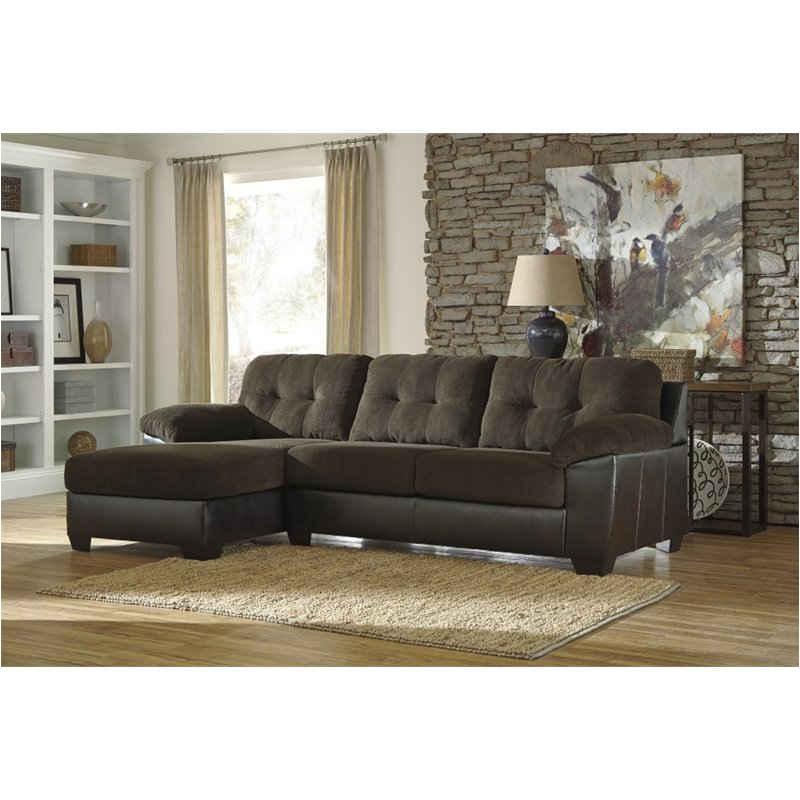 1590067 Ashley Furniture Vanleer - Chocolate Living Room Raf Sofa