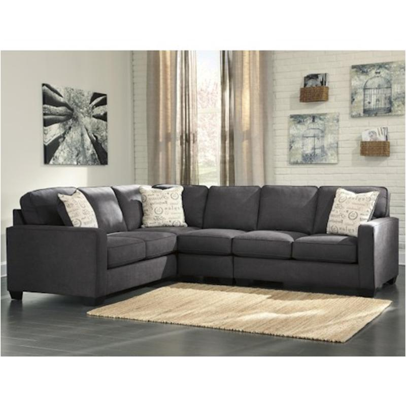 1660156 Ashley Furniture Alenya Charcoal Raf Loveseat