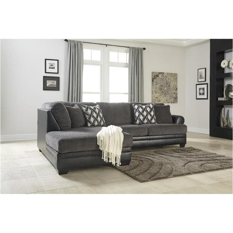 3220267 Ashley Furniture Kumasi Smoke Living Room Raf Sofa