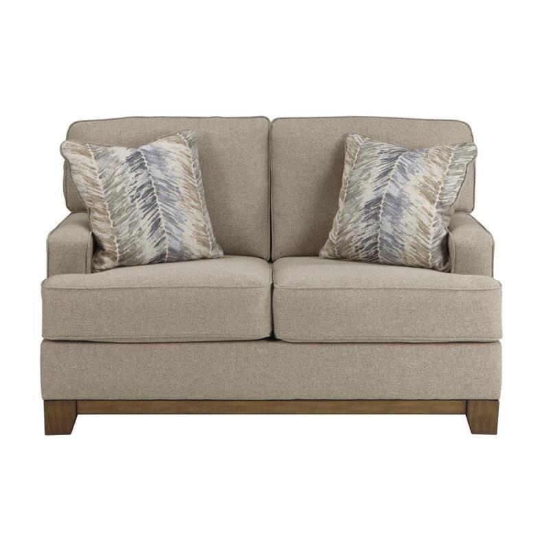 3410435 Ashley Furniture Hillsway Pebble Living Room Loveseat
