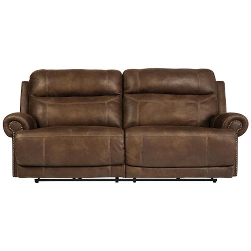 3840081 Ashley Furniture Austere Brown 2 Seat Reclining Sofa