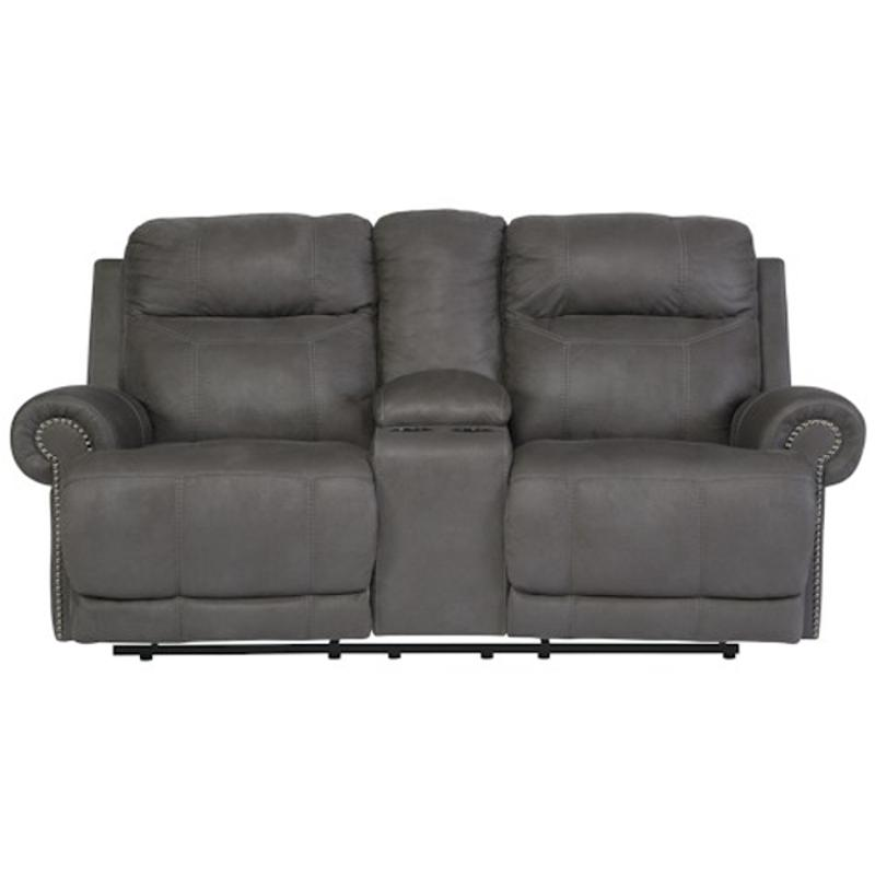 double center power console gray loveseat with htm hadden from reclining