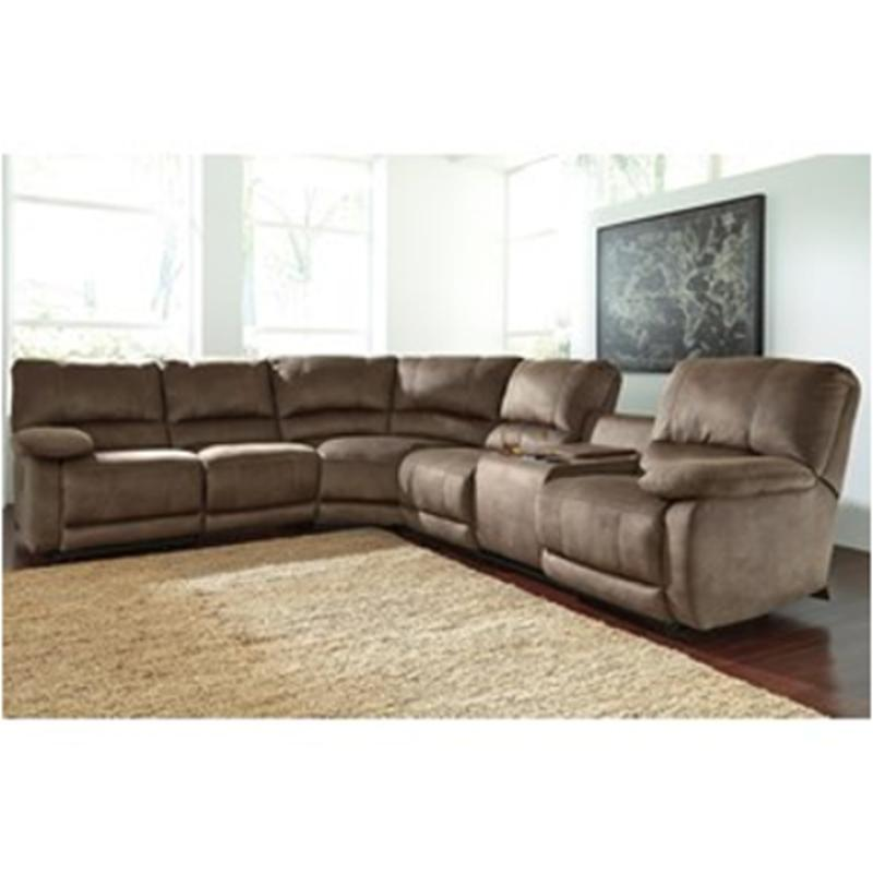 4180058 Ashley Furniture Seamus Taupe Living Room Sectional