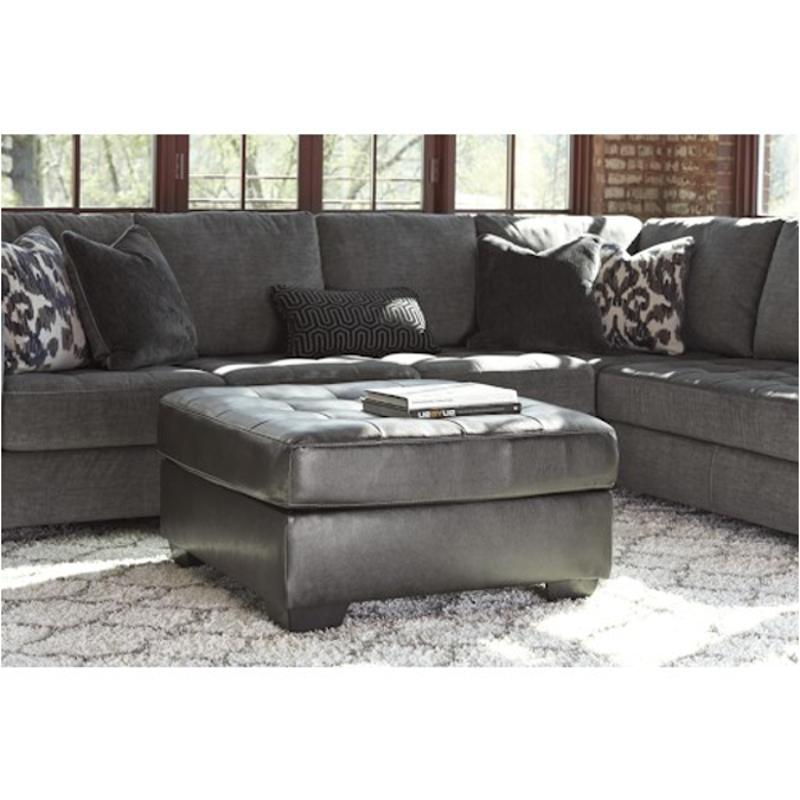 751xx08 Ashley Furniture Owensbe Accent - Charcoal Oversized Accent Ottoman