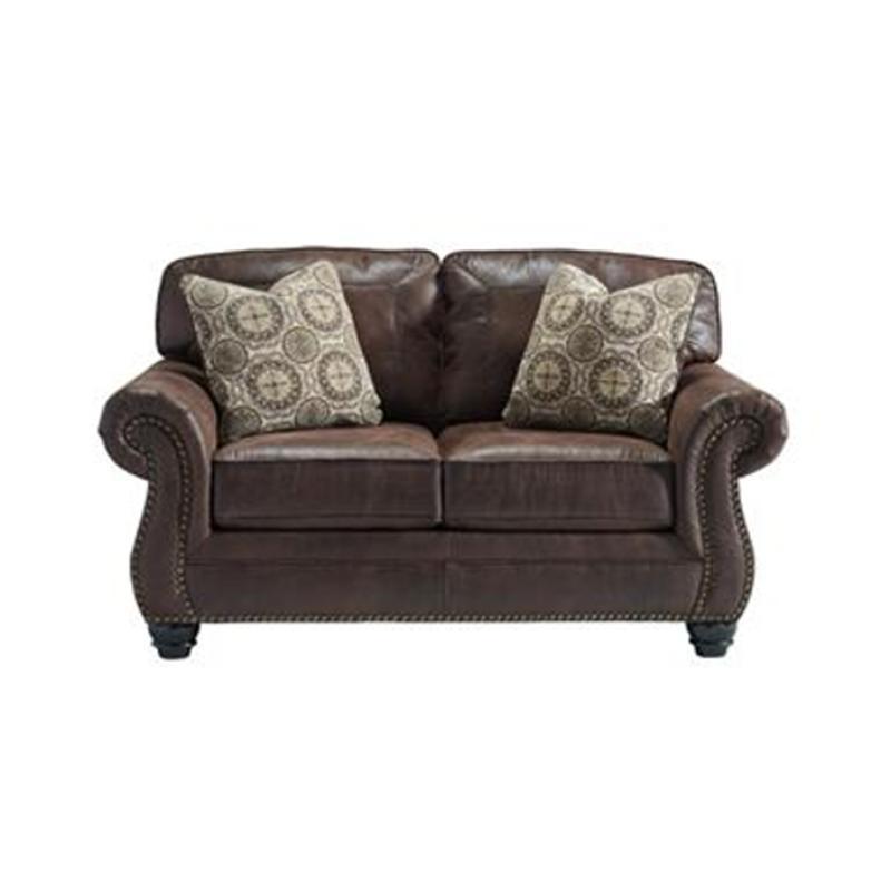 Ashley Furniture Breville Espresso Living Room Loveseat - Espresso living room furniture