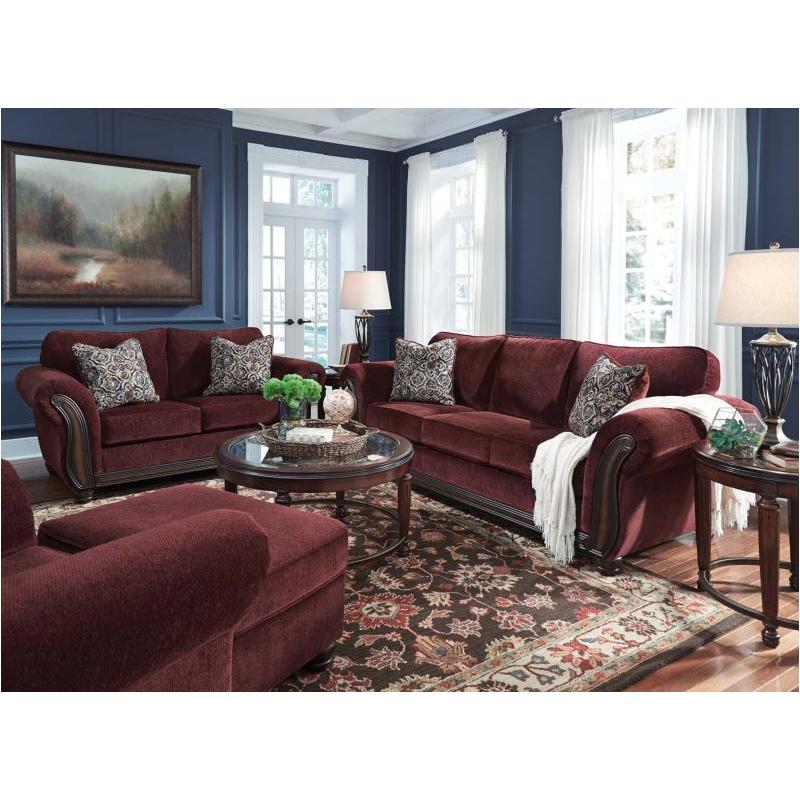 Ashley Living Room Furniture 8810238 ashley furniture chesterbrook - burgundy living room sofa