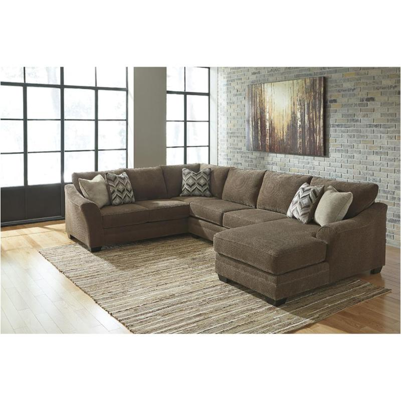 8910266 Ashley Furniture Justyna Teak Living Room Sectional