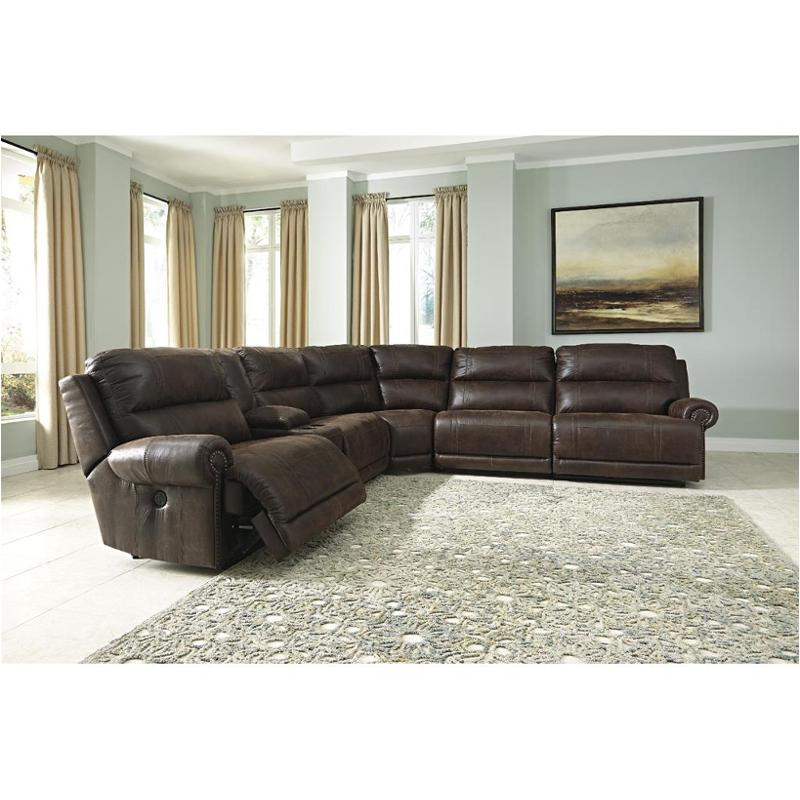 9310157 Ashley Furniture Luttrell - Espresso Living Room Sectional  sc 1 st  Home Living Furniture : espresso sectional - Sectionals, Sofas & Couches