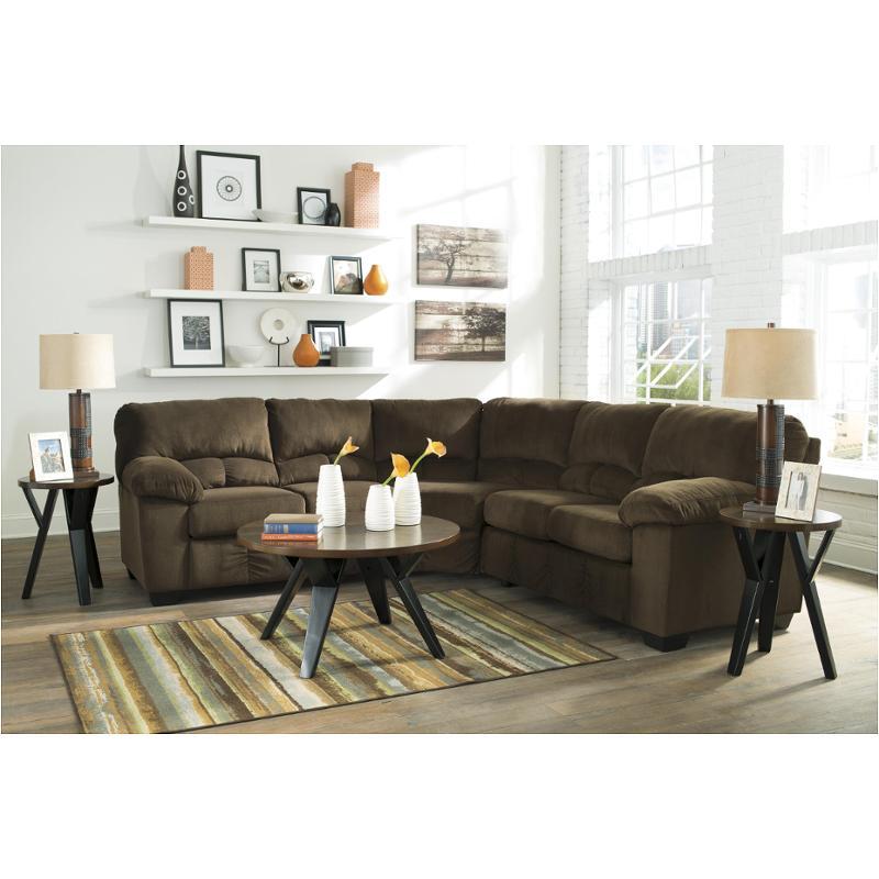 9540355 Ashley Furniture Laf Loveseat With Half Wedge