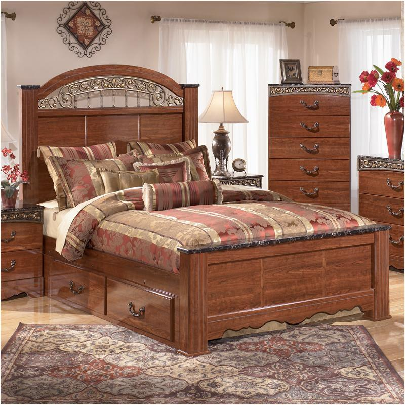 B105-67-st Ashley Furniture Queen Poster Bed With Storage