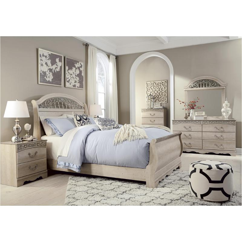 B196 77 Ashley Furniture Catalina Antique White Bedroom Bed