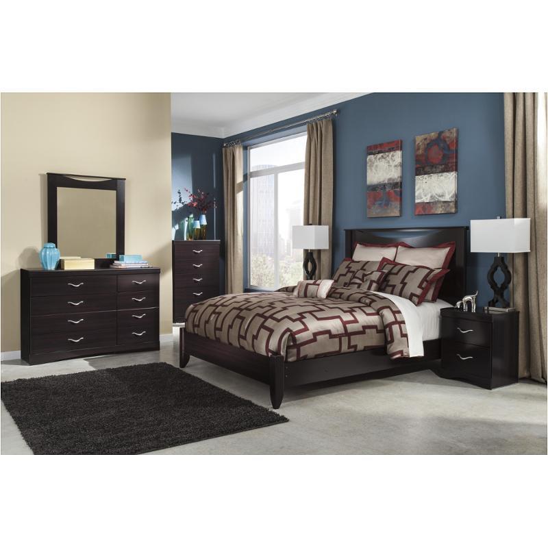 B217 57 Ashley Furniture Zanbury Merlot Bedroom Queen Panel Bed