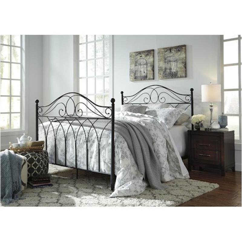 headboards footboard headboard multi metal bedroom headboardfootboardrails nashburg ashley rails queen a furniture bed