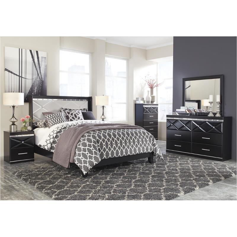 B348 57 ashley furniture fancee black bedroom queen - Ashley furniture black bedroom set ...