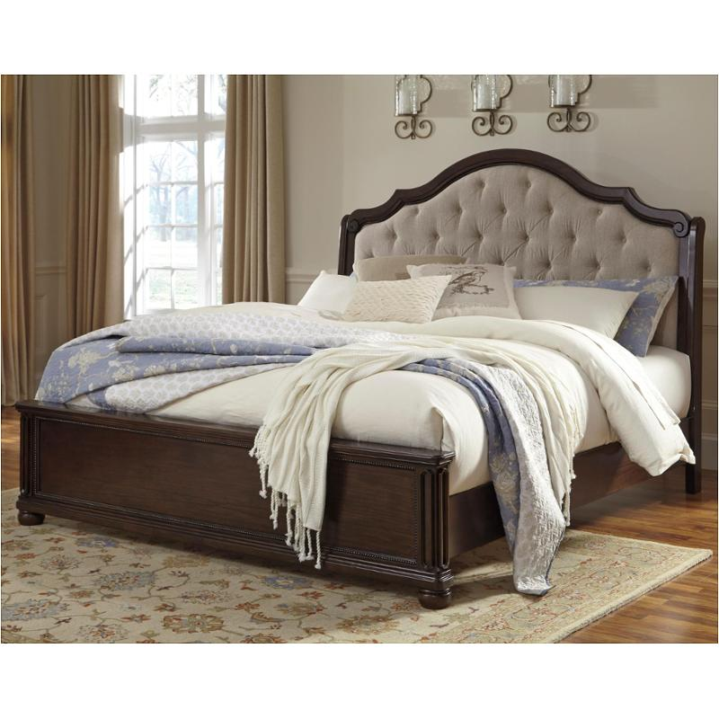 B596 58 Ck Ashley Furniture Moluxy Dark Brown Bedroom Bed