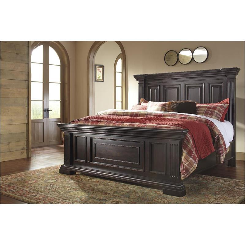 b643 58 ashley furniture willenburg dark brown bedroom bed - King Panel Bed