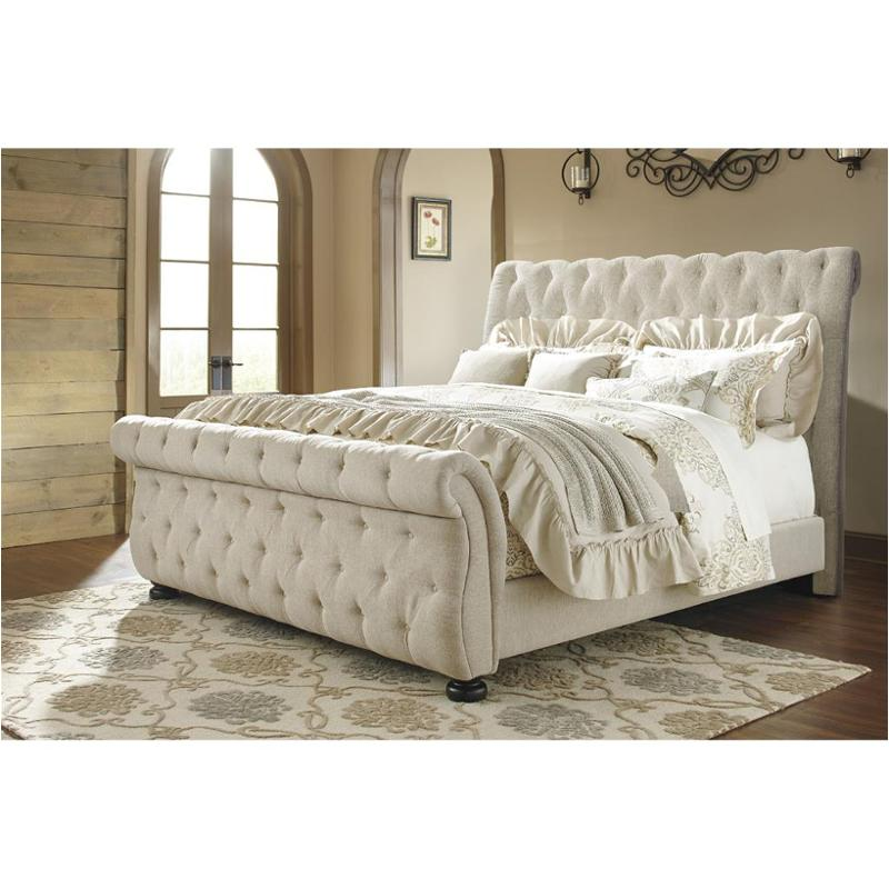 B643 77 Ashley Furniture Willenburg   Dark Brown Bedroom Bed
