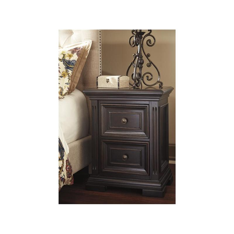 B643-92 Ashley Furniture Two Drawer Night Stand