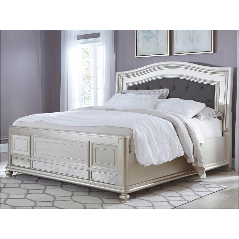 B650-158 Ashley Furniture King Upholstered Panel Bed