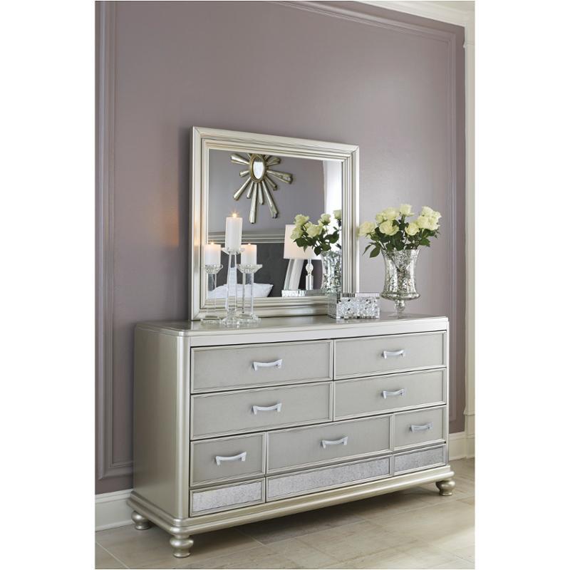 B650-36 Ashley Furniture Coralayne - Silver Bedroom Mirror