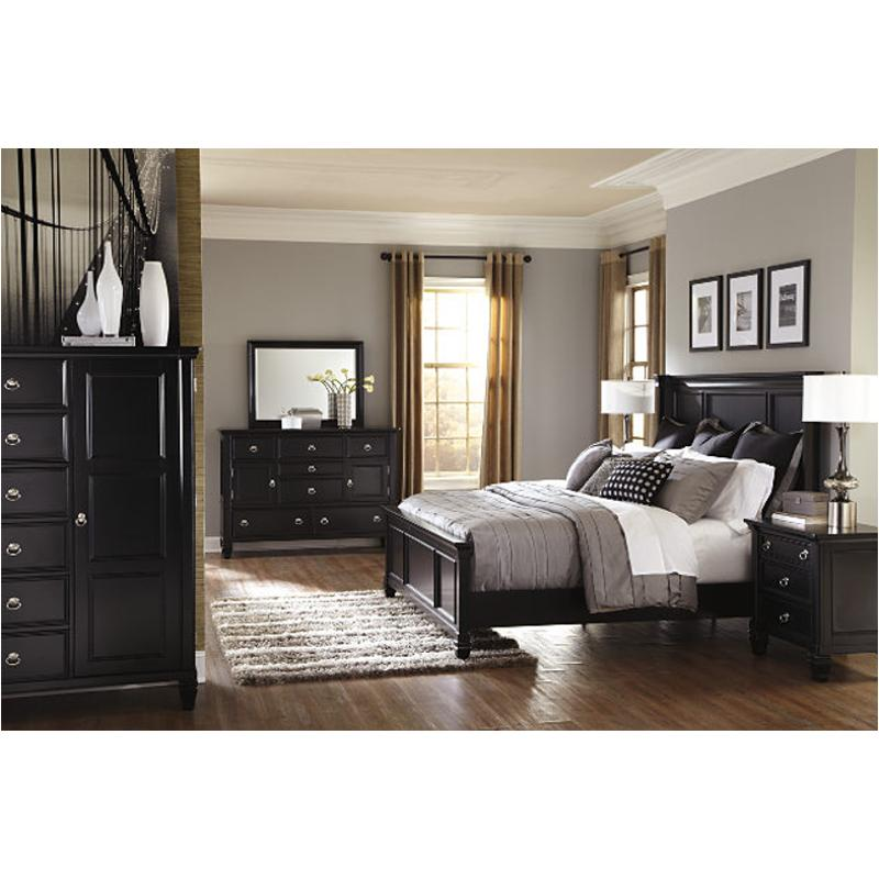 B671 58 Ashley Furniture Greensburg Black King Panel Bed