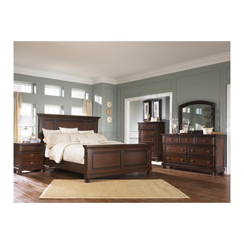 B697 58 Ashley Furniture Porter Rustic Brown King Panel Bed