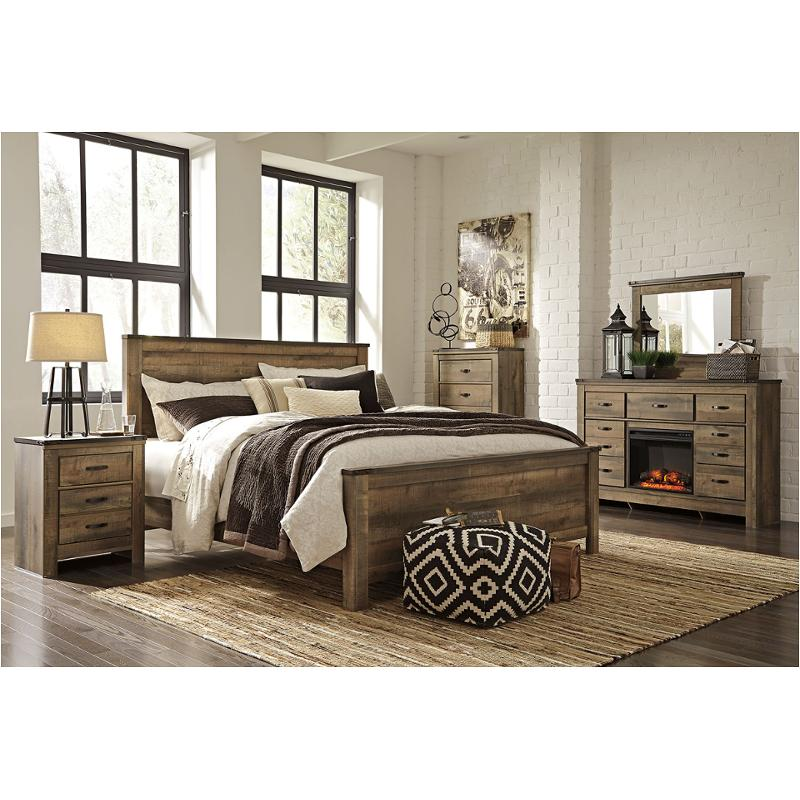 B446 57 Ashley Furniture Trinell   Brown Bedroom Bed