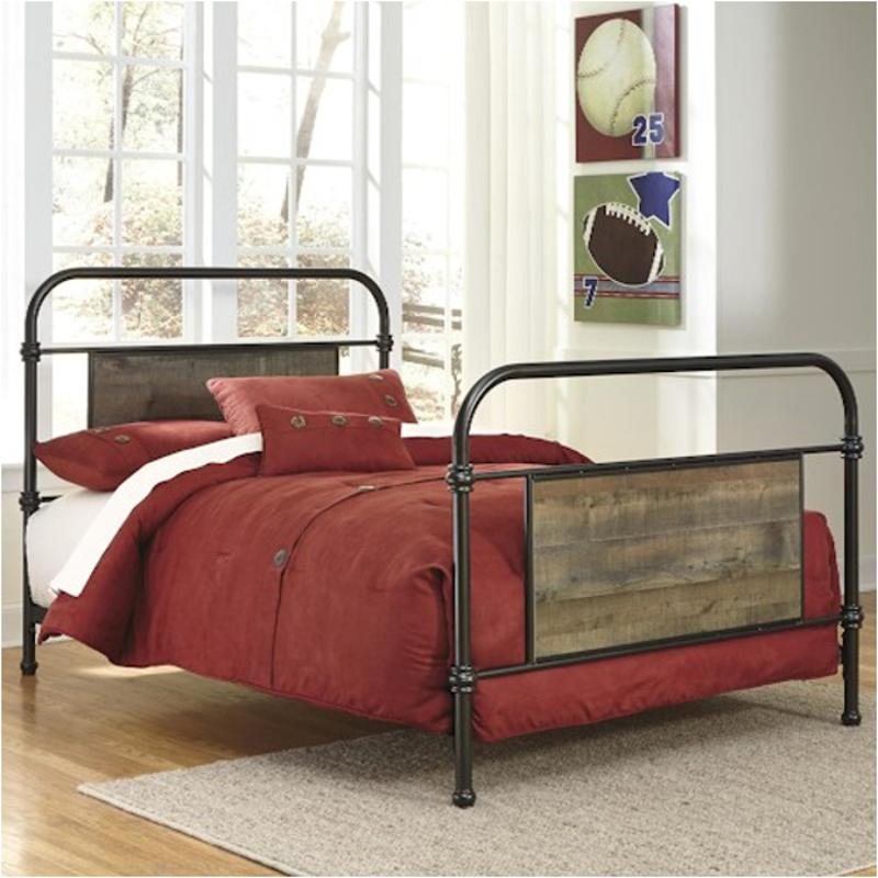 B446 71 Ashley Furniture Twin Metal Headboard Footboard Rails