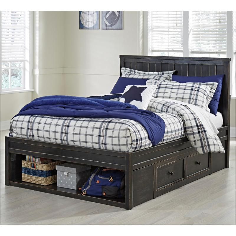 kids storage bed. B521-60 Ashley Furniture Jaysom - Black Kids Room Bed Kids Storage Bed