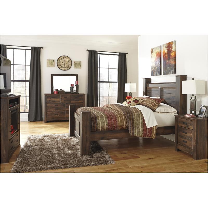 B246 67 Ashley Furniture Quinden Dark Brown Bedroom Bed
