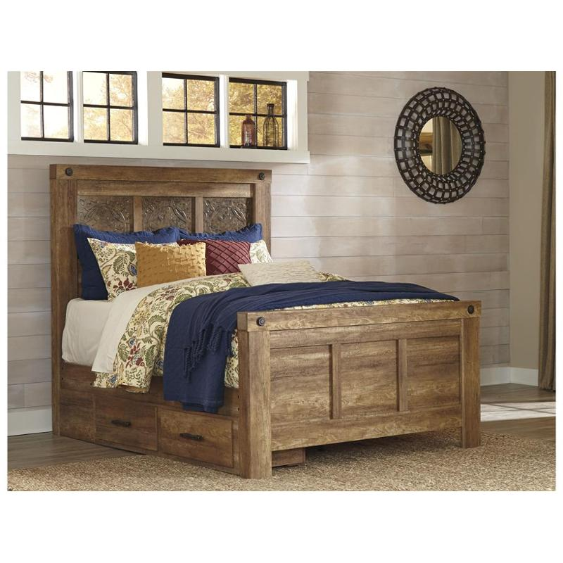 B399-57-st Ashley Furniture Queen Mansion Bed With Storage