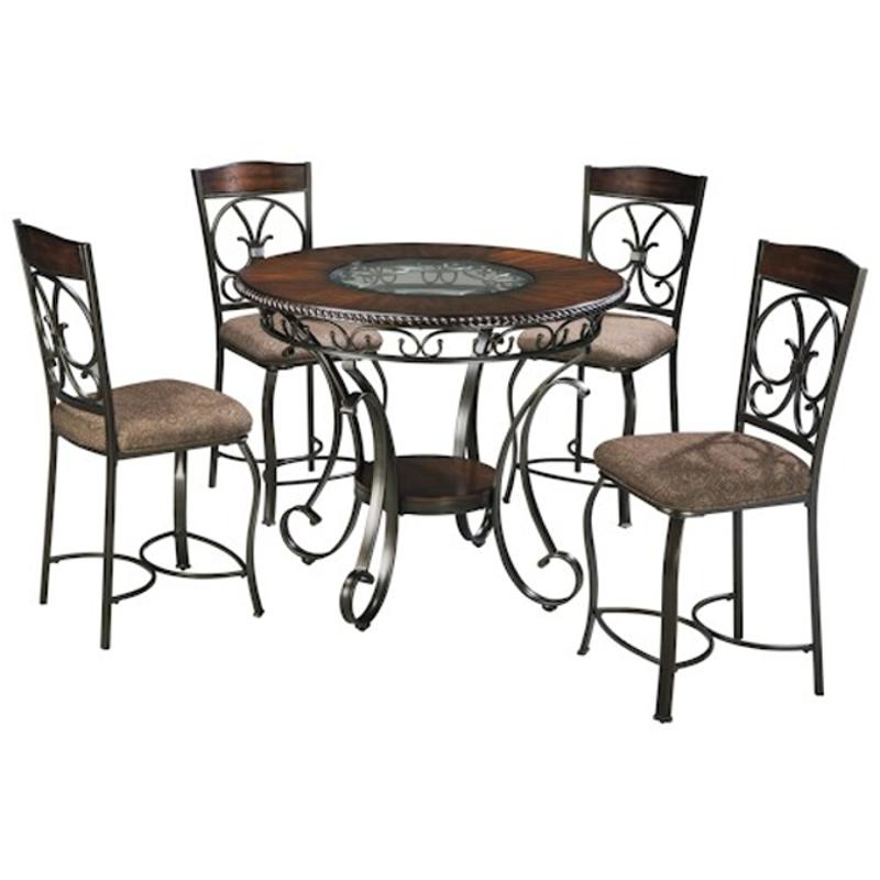 D329 13 Ashley Furniture Round Dining Room Counter Table
