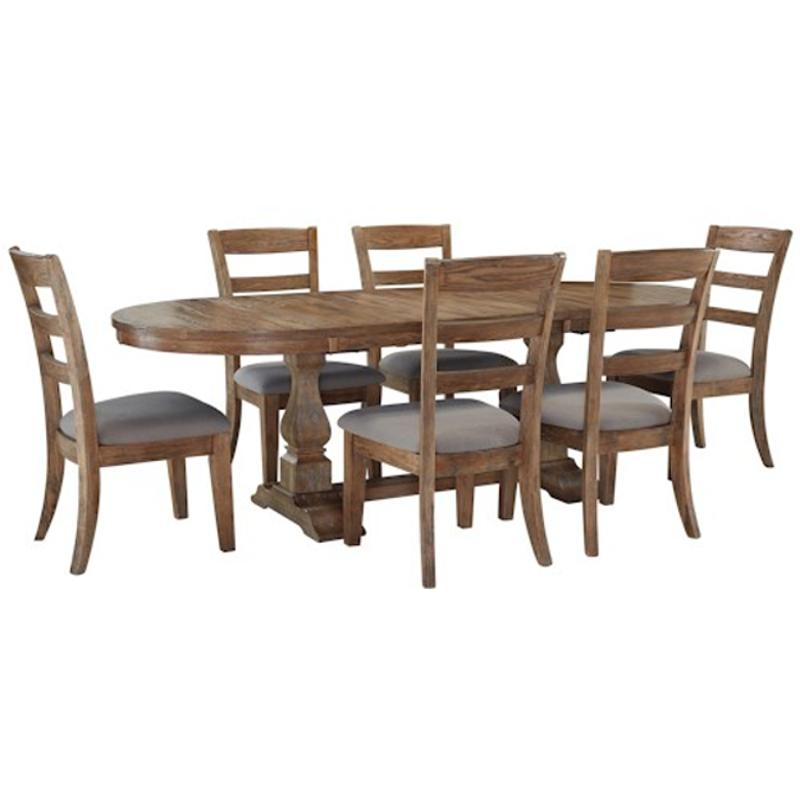 Ashley Furniture 14 Piece Package: D473-45t Ashley Furniture Oval Dining Room Extension Table